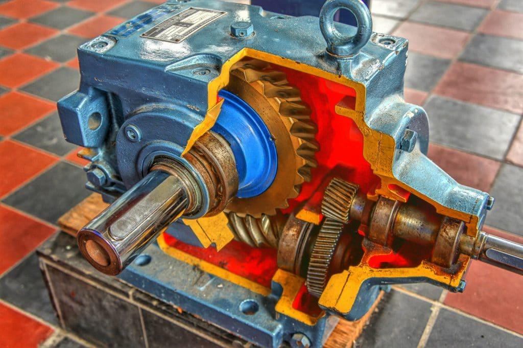 Intérieur de moteur carter découpé
